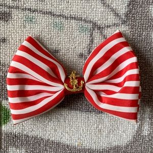 Other - Nautical Red & White Stripe Hair Bow